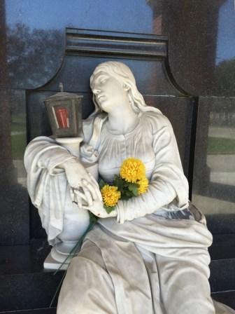This angel in the Central Cemetery of Vienna has apparently had a hard night. (Bob Sessions photo)