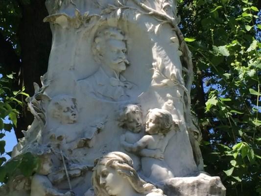 The grave of Johann Strauss has cherubs dancing to a waltz. (Lori Erickson photo)