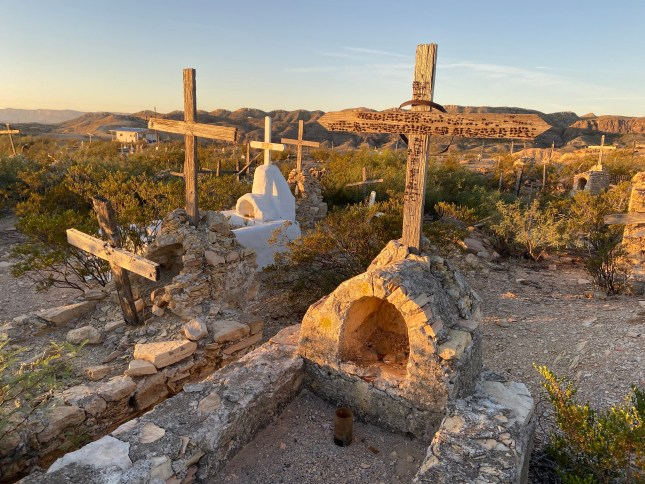 ghost cemetery in Terlingua, Texas