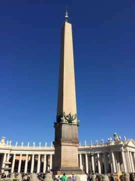 column in St. Peter's Square at Vatican