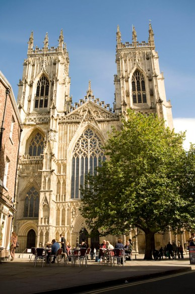 York Minster with trees in front