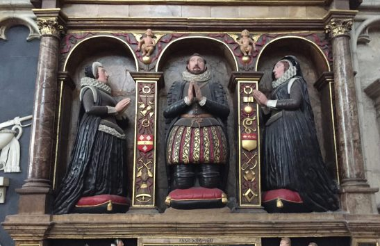 Elizabethans kneeling at prayer, Elizabethan cathedral effigies