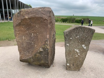Sarsen and bluestone, rocks used in Stonehenge, Stonehenge Visitor Center