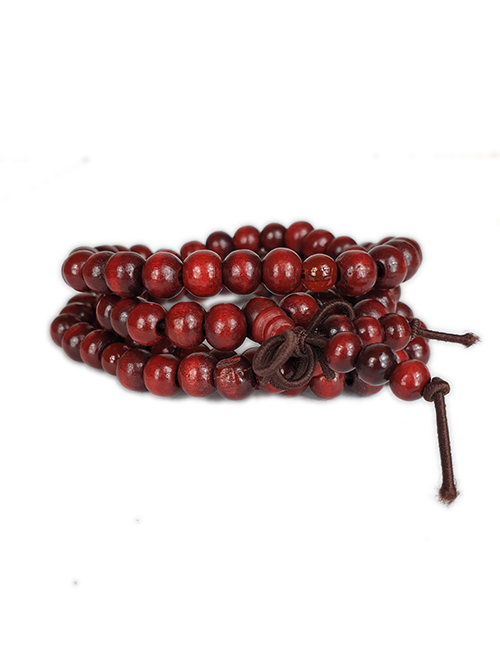 TibetaansBoeddhistische-Mala-donkerbruin