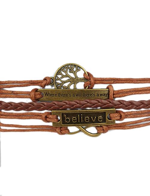 TreeofLife-Infinity-Believe-Geweven-Touw-Armband