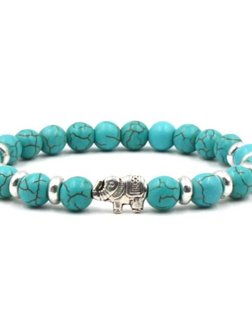 Boeddhistische Howliet Olifant armband