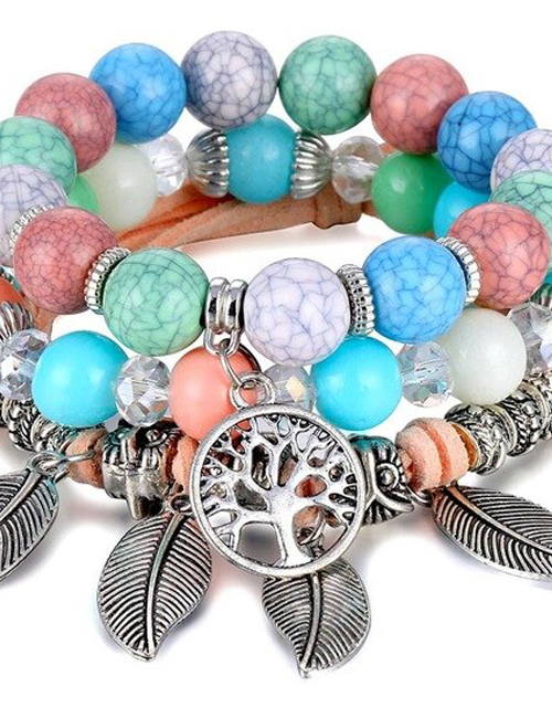 Multicolor Tree of Life Balans armbanden