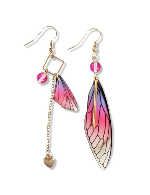 Asymmetrische Vlinder Vleugel oorbellen