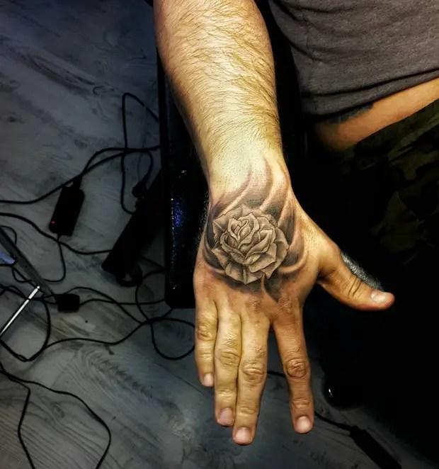 Black Rose Hand Tattoos For Men Unixpaint