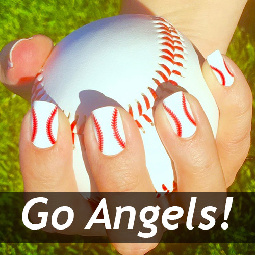 Los Angeles Angels Baseball Nails