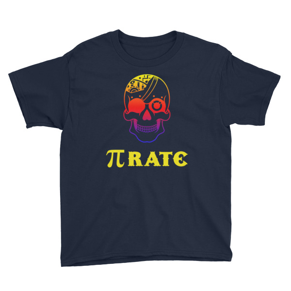 Pi Rate Youth Short Sleeve T-Shirt