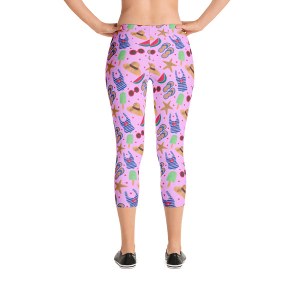 Pink Beach Party Capri Leggings