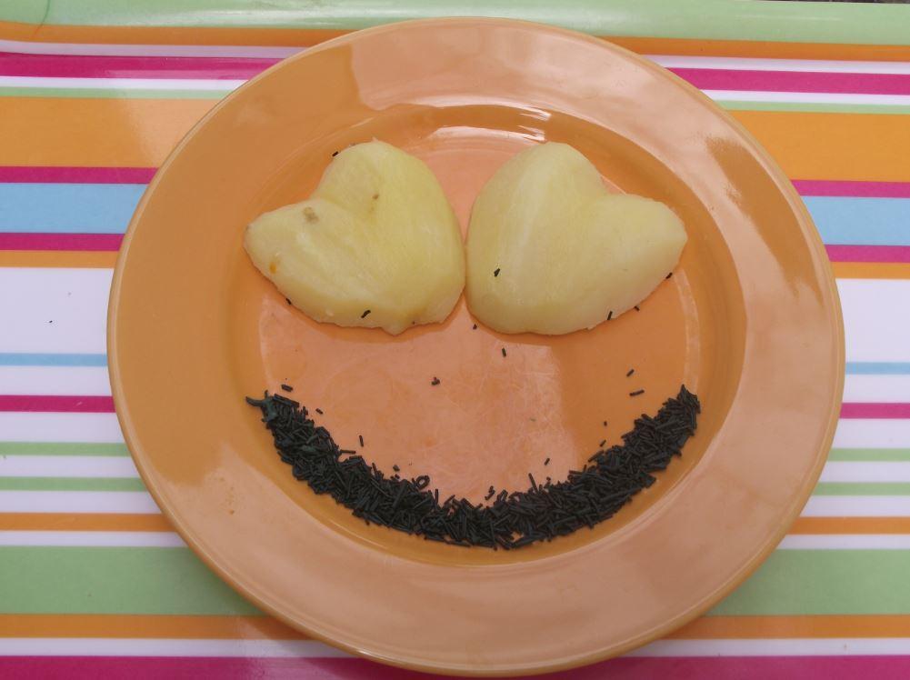 pomme de terre cœur - sourire spiruline