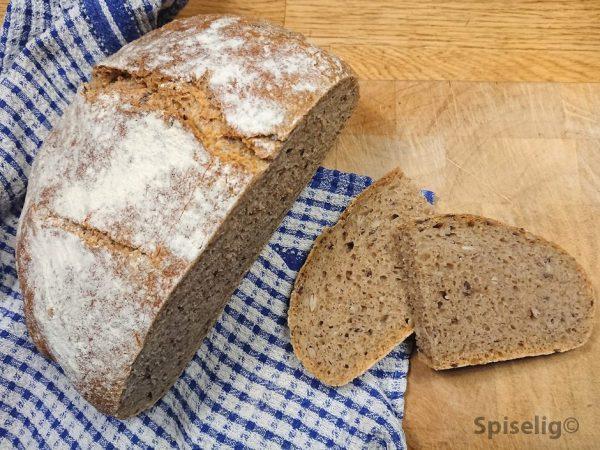 Eltefritt brød med spelt og rug