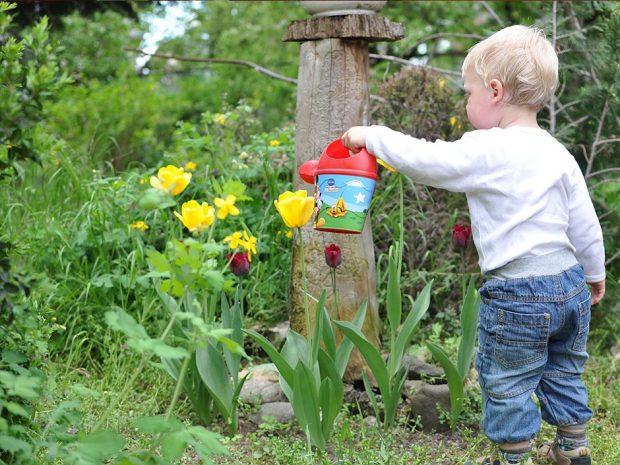 Barn vanner tulipaner