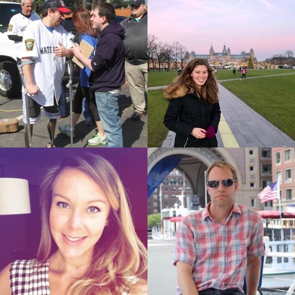 (Top left to bottom right) President Adam Sennott, Vice President Abigail Feldman, Secretary Cat McGloin and Treasurer Don Seiffert