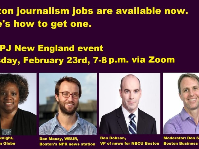 Boston journalism jobs are available. Here's how to get one.