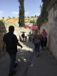 Street leading to the garden of Gethsemane