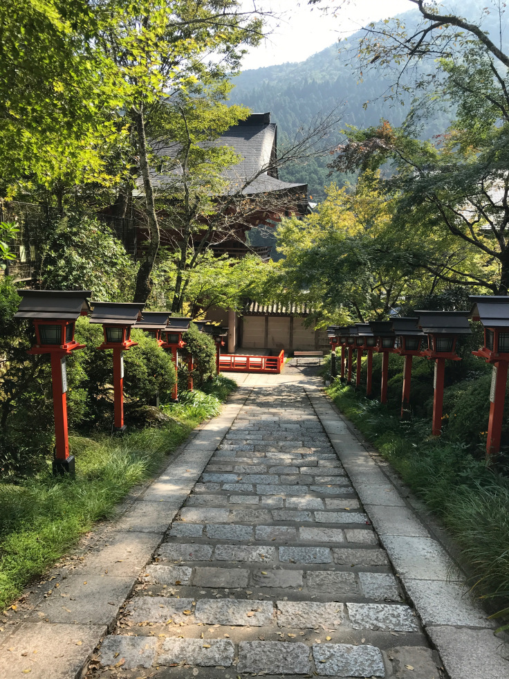 approach ro temple at mnt. kurama