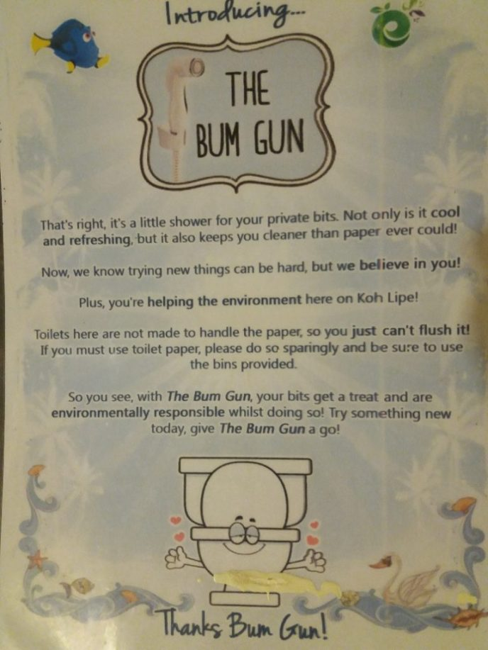 Use the bum gun
