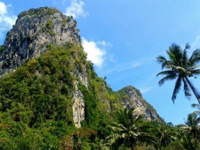 Jungle en bergen op het eiland Koh Mook in Thailand