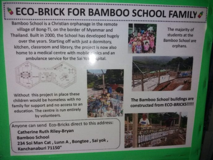 Eco Brick for Bamboo School Family