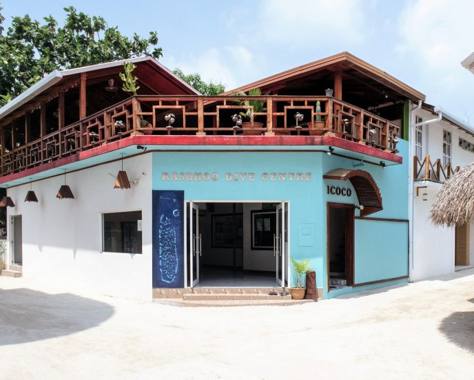 Scuba Diving Center on Rasdhoo Island on the Maldives