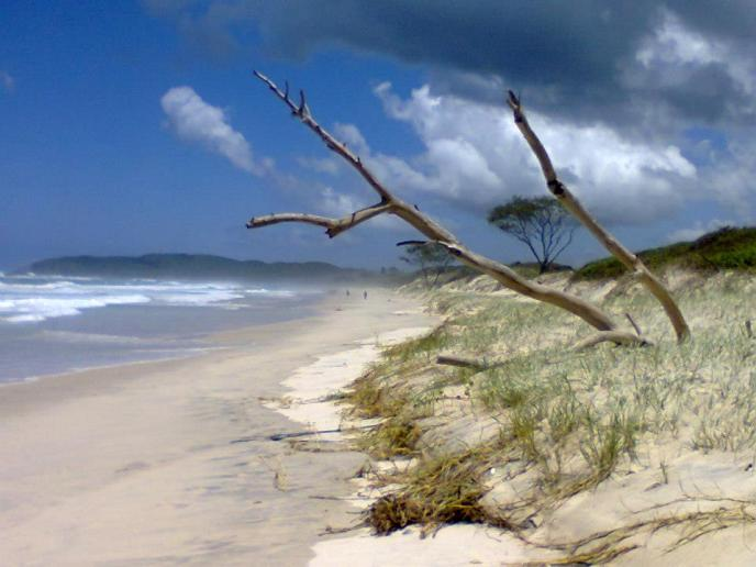 Photo beach of Byron Bay in Australia