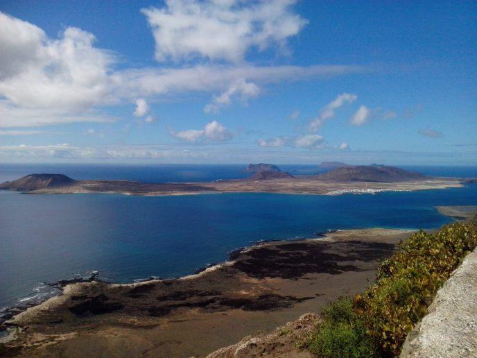 La Graciosa Eiland op de Canarische Eilanden
