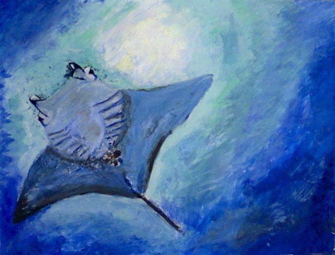 Mantaray Painting