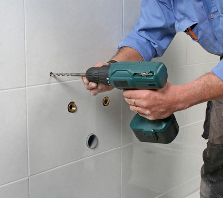 Bathroom fixture install by our plumber in Anaheim