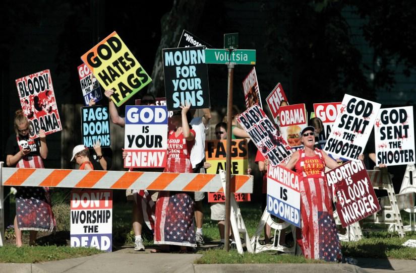 Image result for christian fanatics attack homosexuals