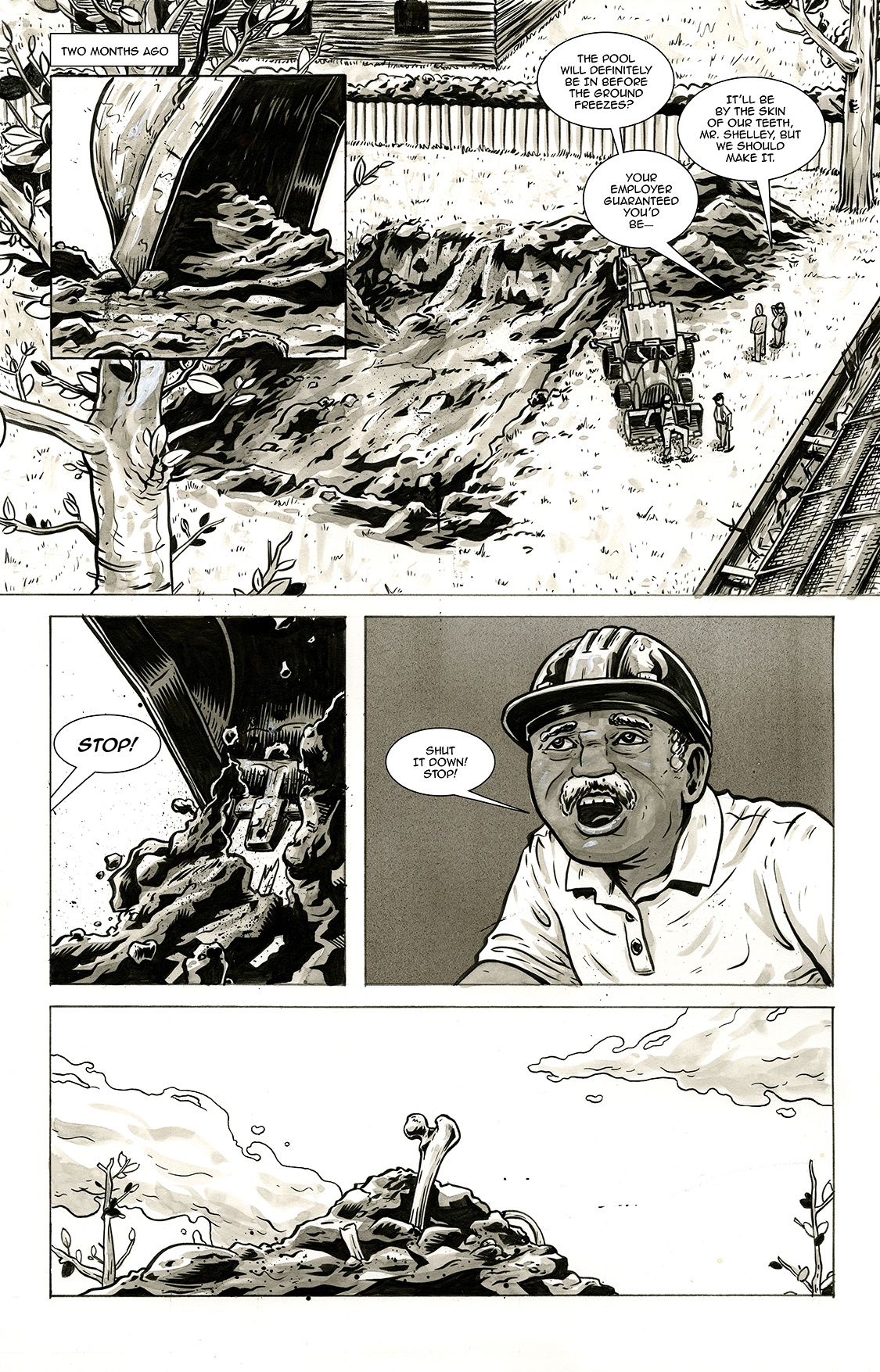 Lone and Level, page 2, by Sam Costello and Max Temescu