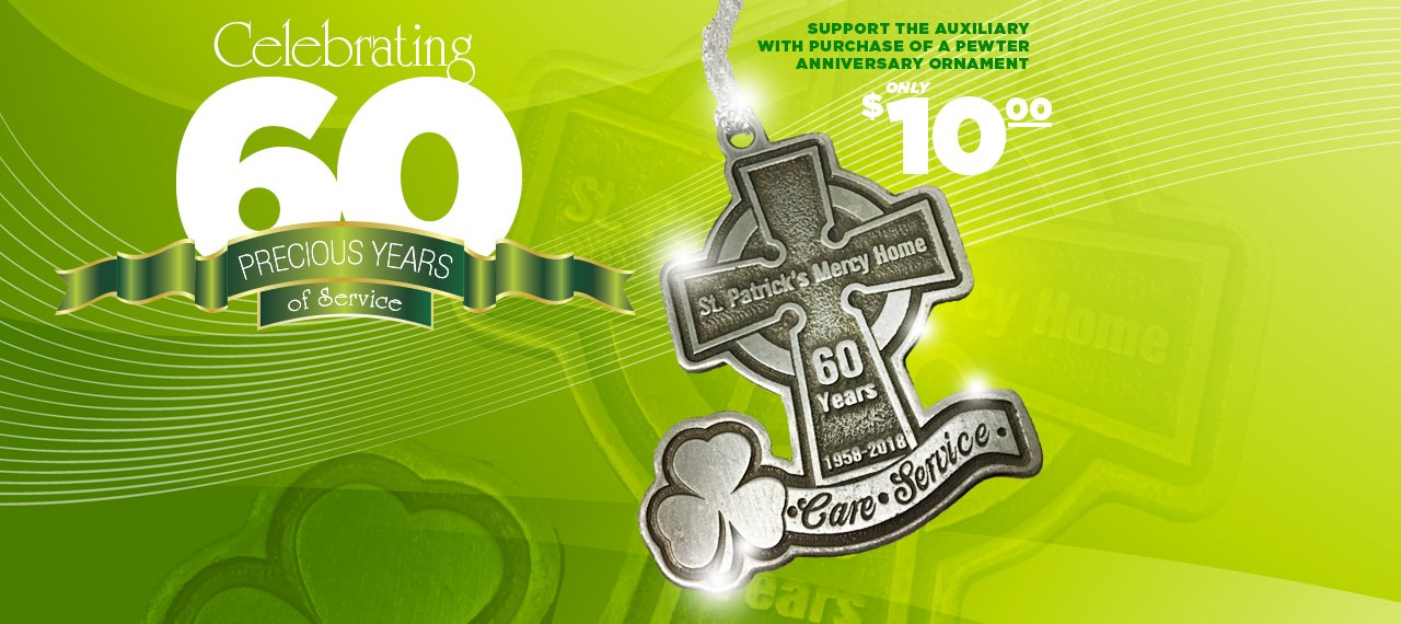 60th Anniversary Pewter Ornament
