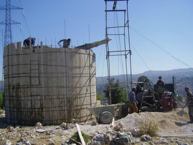 Water Tanks at Hima Upper Akkar before and after rehabilitation