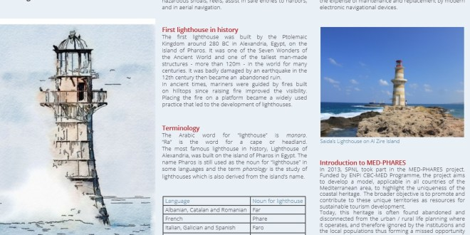 Marine Heritage Lebanons Lighthouses Linking Culture To Nature