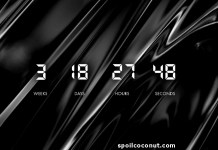 Amazing JavaScript Countdown Clock with PSD