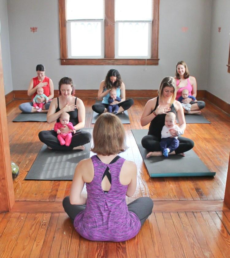 Mom and Baby Yoga Class in Charleston, SC | SpoiledYogi.com