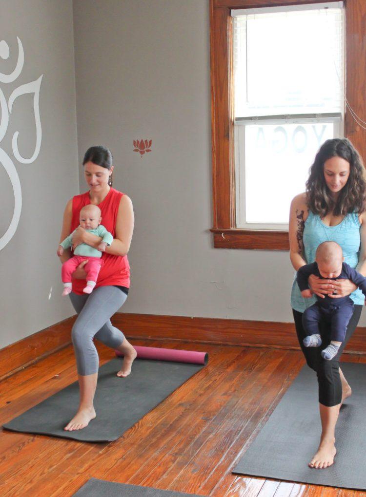 Baby Yoga: Yoga Poses You Can Do With Your Baby | Warrior 1 Pose | SpoiledYogi.com