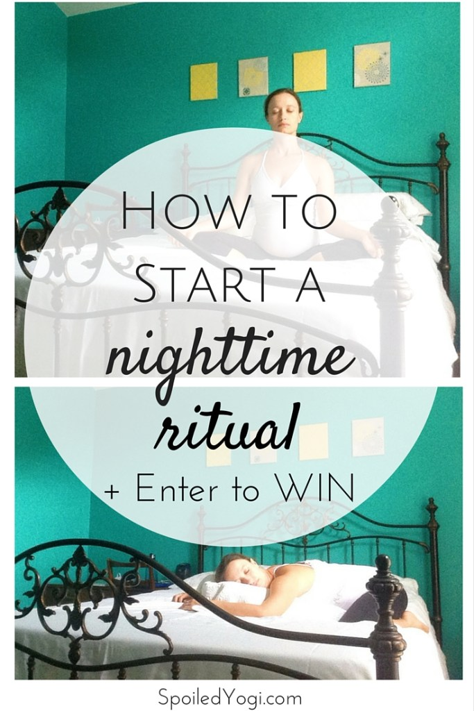 How to Start a Nighttime Ritual | Plus, click through to win a super comfy pillow from Slumbr. | Giveaway | SpoiledYogi.com