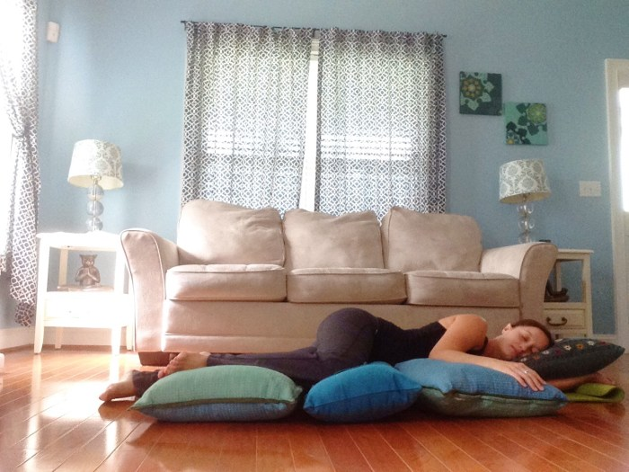 Side Lying Savasana | Best Yoga Poses for the Second Trimester | SpoiledYogi.com