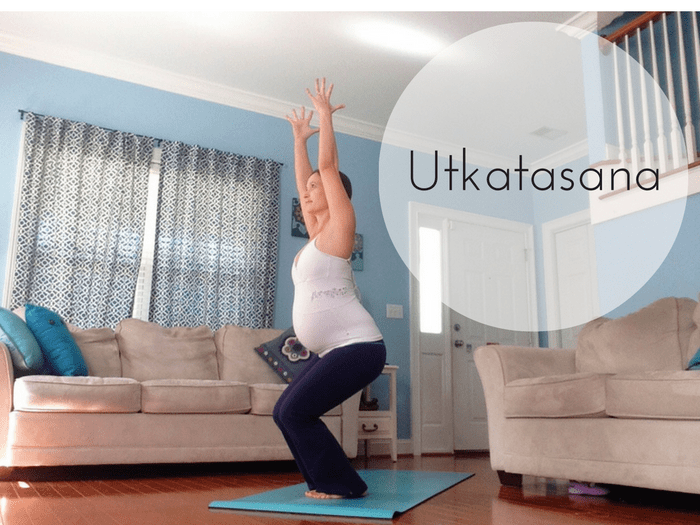Utkatasana Chair Pose | Back-to-School Yoga for Moms | SpoiledYogi.com