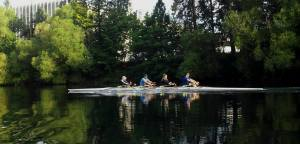 Cody, Audrey, Brandan and Josh in the 4x.