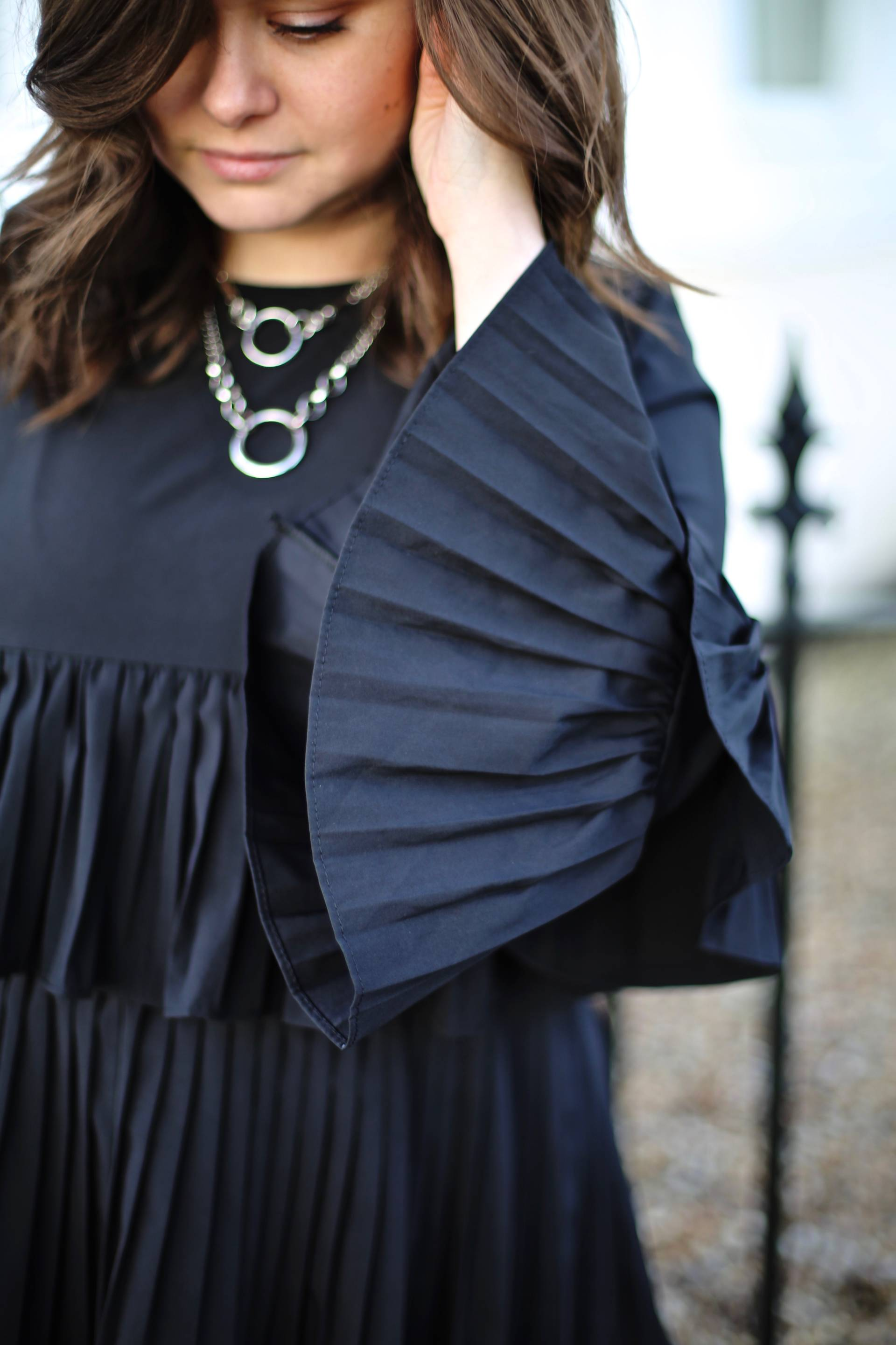 silkfred pleated top