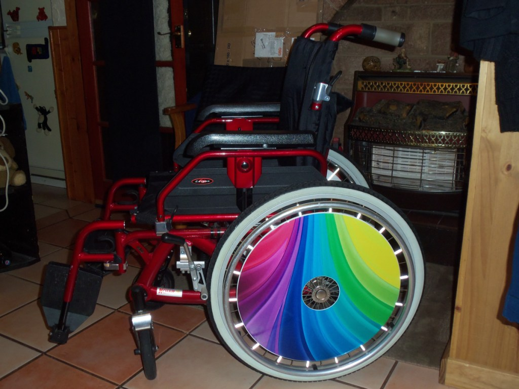 Rainbow SpokeGuards Wheelchair Wheel Covers