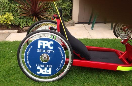 Corporate branding Spokeguards wheelchair wheel covers