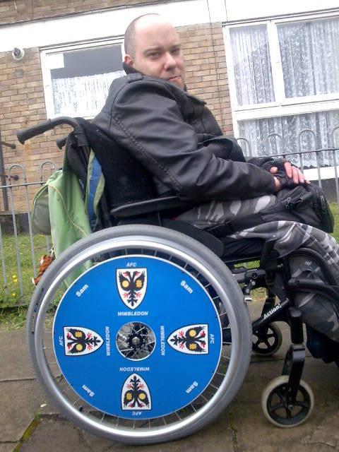 AFC Wimbledon SpokeGuards wheelchair wheel covers