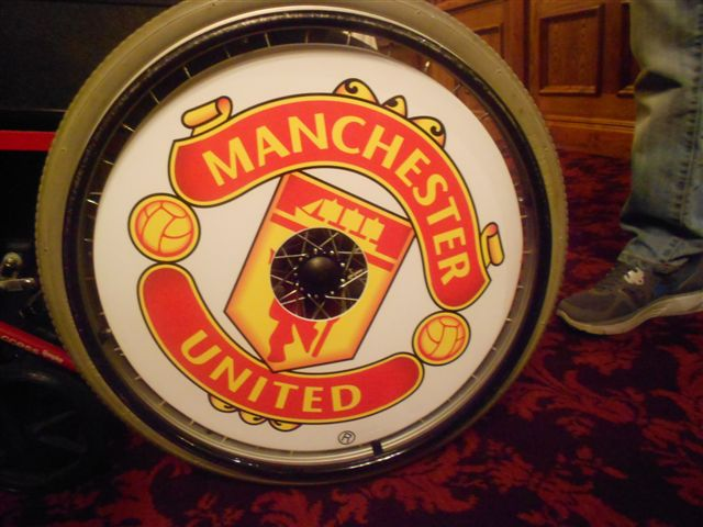 Manchester United FC Wheelchair Wheel Covers SpokeGuards