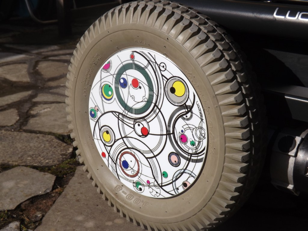 Gallifrey Pattern SpokeGuards wheelchair wheel covers