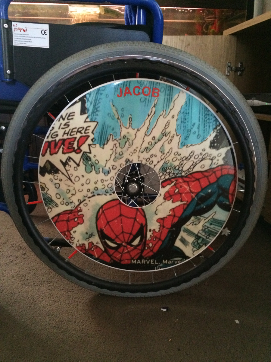 Spiderman Wheelchair Wheel Covers SpokeGuards